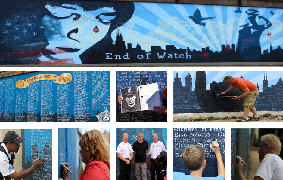 End of Watch Police Memorial Mural Detail