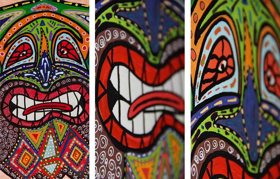 Tony Passero Painting Refrain Mask Detail