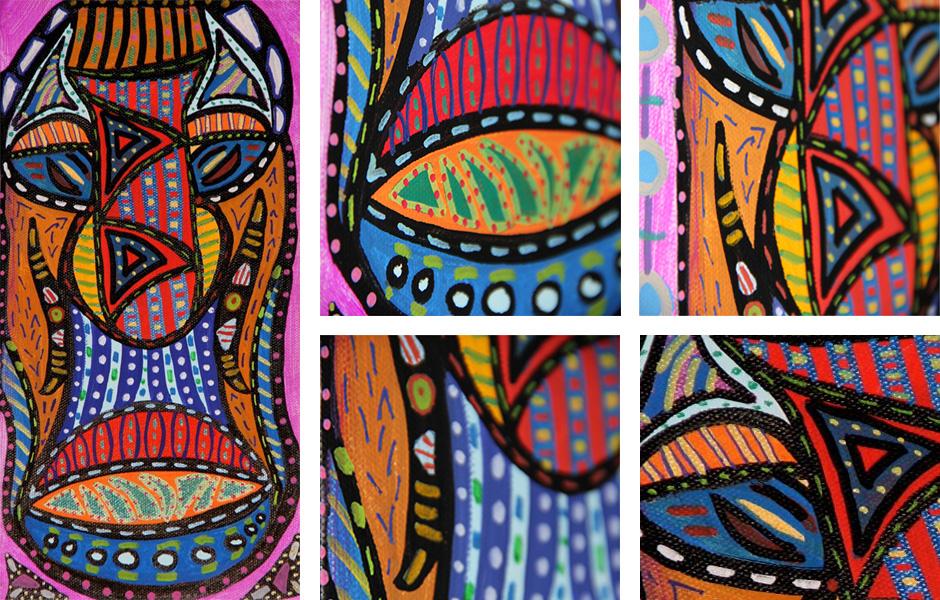 Tony Passero Painting Stern Mask Detail