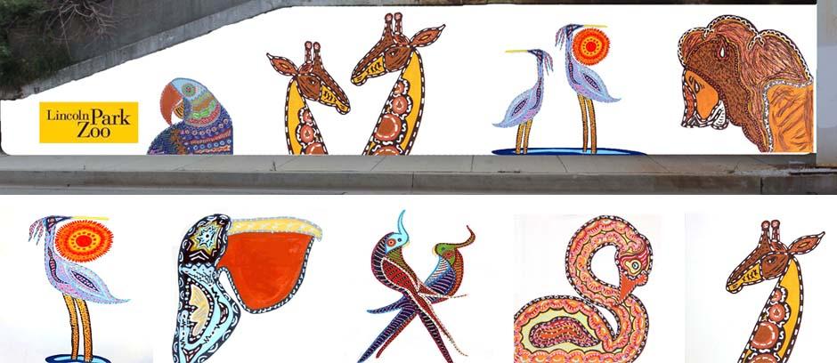 Zoo Mural Detail
