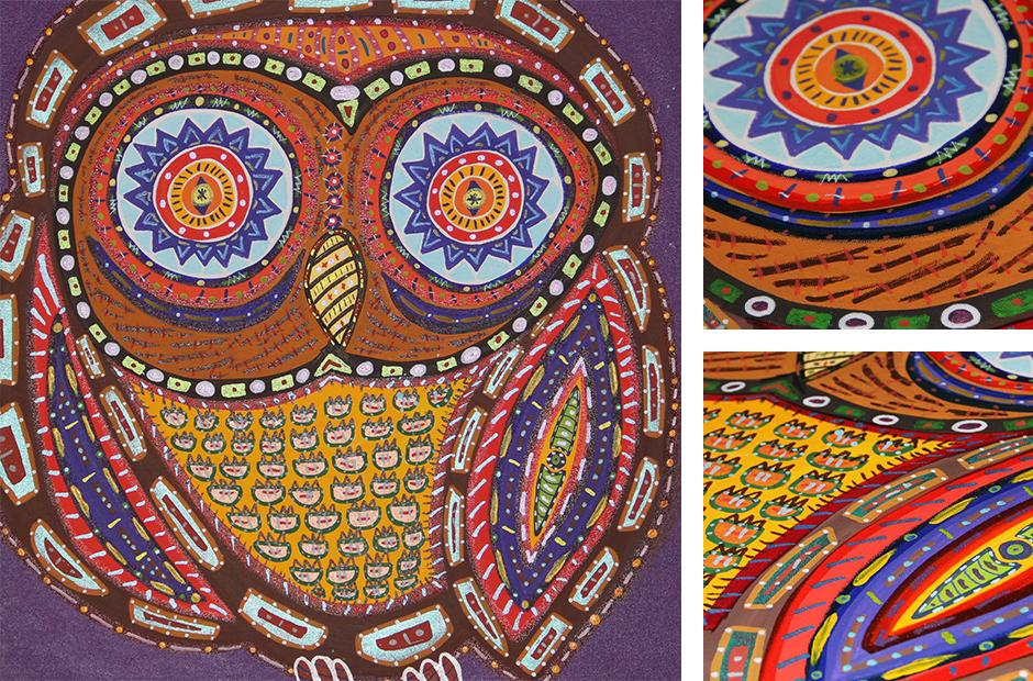 Tony Passero Painting Noctua Detail