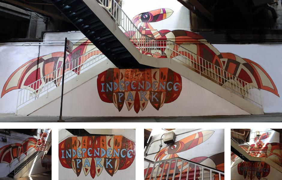 Tony Passero Independence Park Phoenix Mural Detail