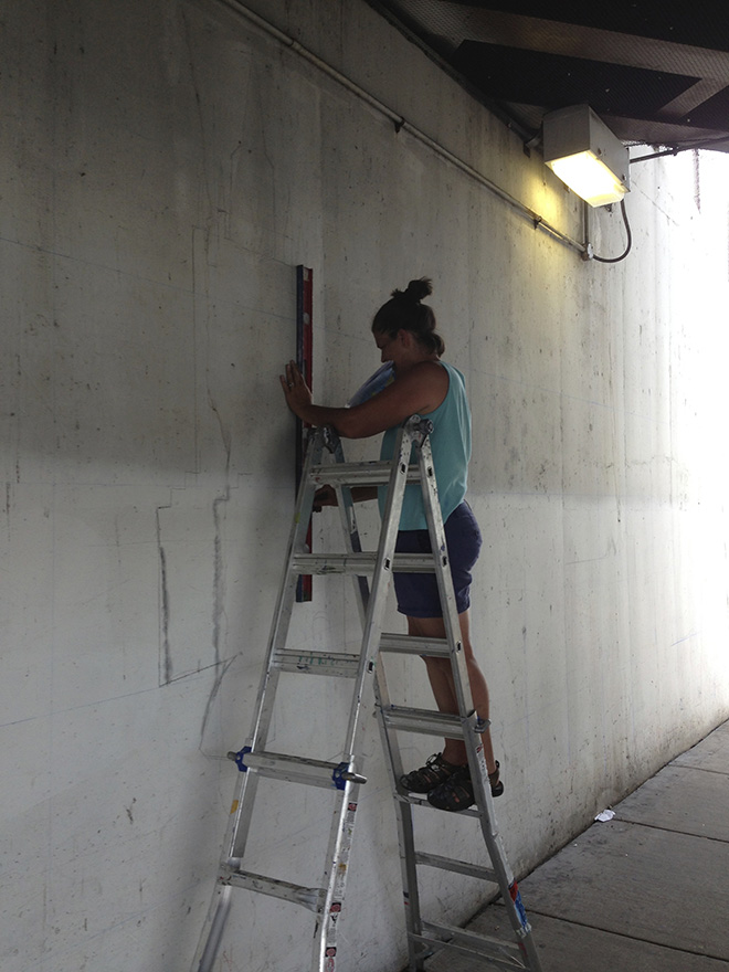 Tony Passero Positive Babel Mural on Irving Park Road in Chicago Day 1 Cyd Working the Grid