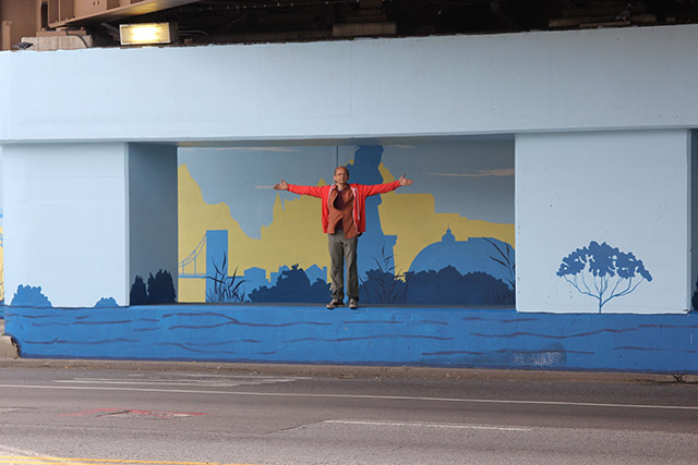Tony Passero Positive Babel Mural on Irving Park Road in Chicago Day 12 Jerry Says Ta-Da