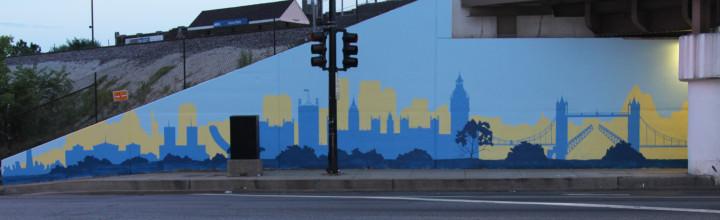 Positive Babel Mural Day 4