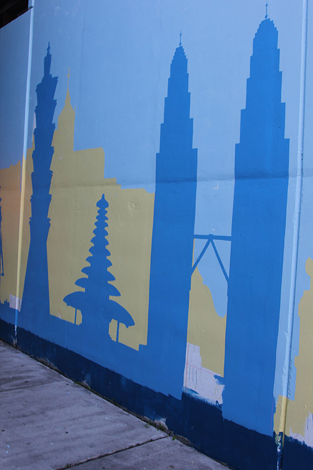 Tony Passero Positive Babel Mural on Irving Park Road in Chicago Day 8 Some Iconic Towers