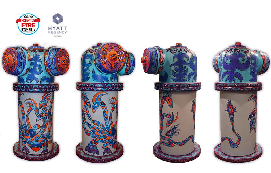 Tony Passero Painting Hydra Hydrant Detail
