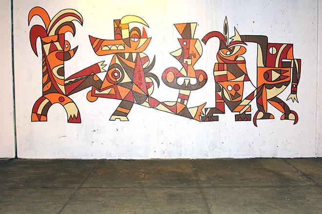 Tony Sparrow Manifest Mural Panel 2