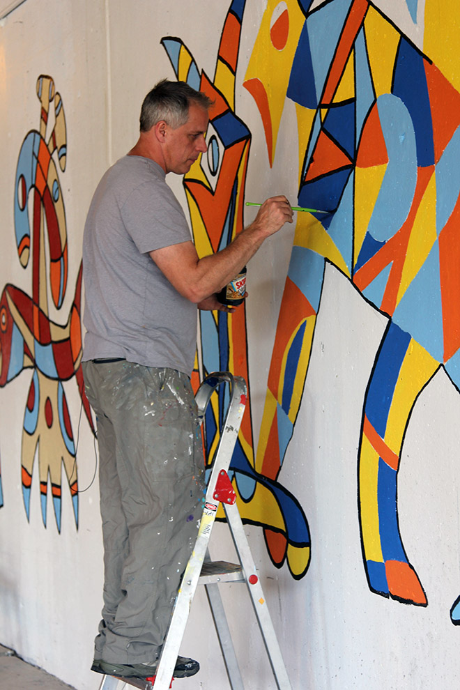 Tony Sparrow Manifest Mural Panel 3