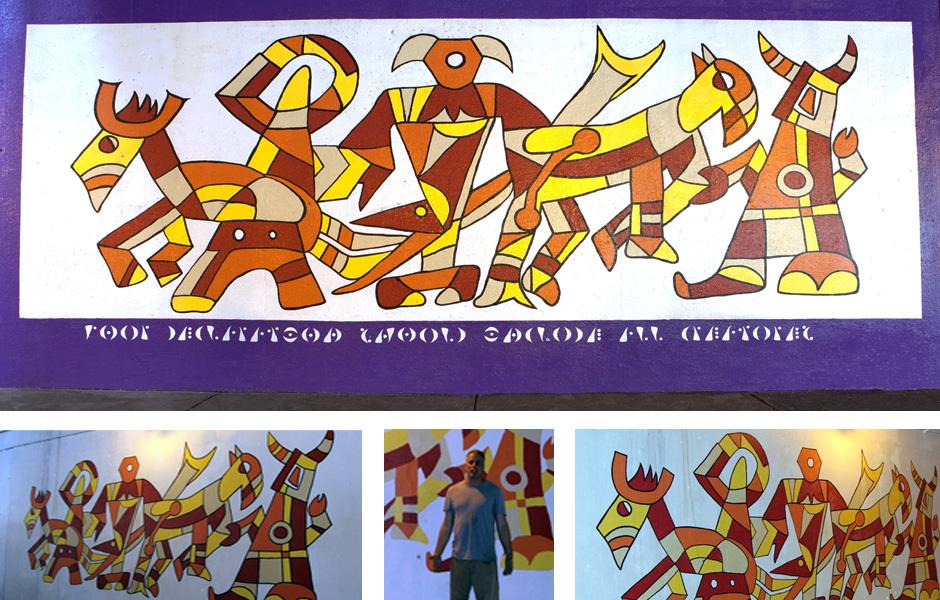 Tony Passero Declaration Panel 4 of the M(ani)Fest Mural on Pulaski Avenue Chicago Detail