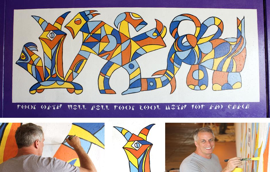 Tony Passero Oath Panel 7 of the M(ani)Fest Mural on Pulaski Avenue Chicago Detail