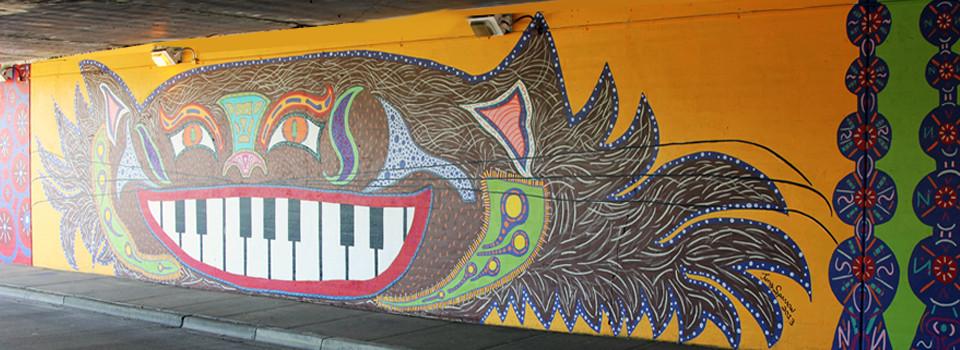 Tony Passero Hep Cat Mural on Cicero Avenue in Chicago Detail