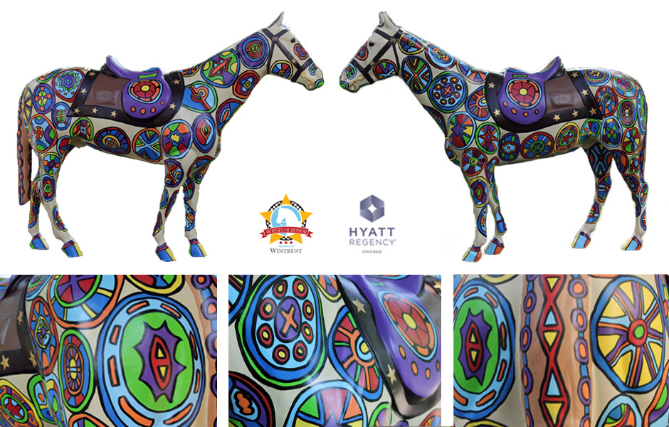 Tony Passero Horses of Honor Stained Glass Horse Detail