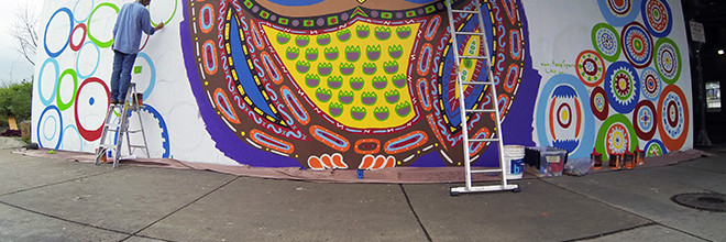 Whoot Mural Day 8