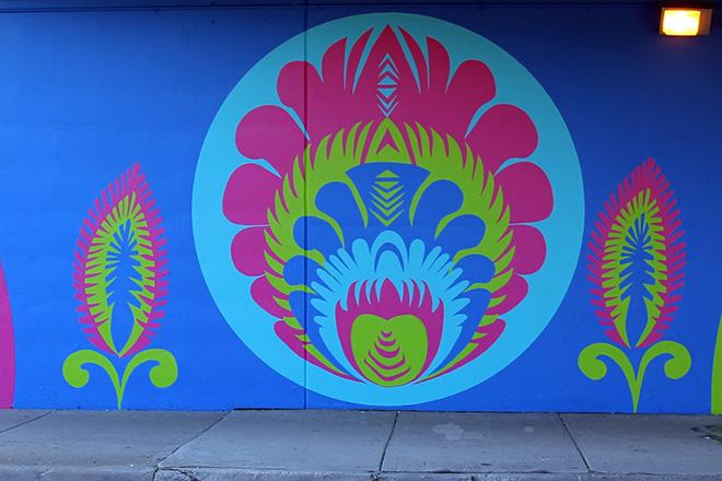 Tony Passero CrossCuts Mural on Addison Avenue Chicago Day 6 Panel 5 Detail
