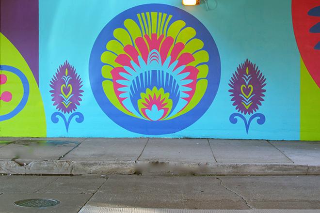 Tony Passero CrossCuts Mural on Addison Avenue Chicago Day 6 Panel 7 Detail