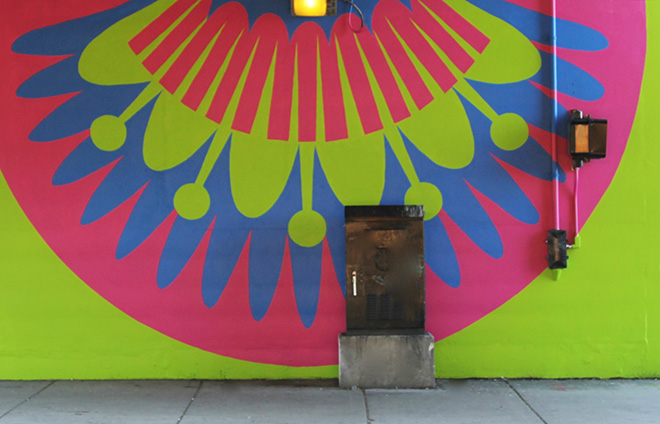 Tony Passero CrossCuts Mural on Addison Avenue Chicago Day 6 Panel 9 Detail