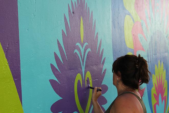 Tony Passero CrossCuts Mural on Addison Avenue Chicago Day 6 Shannon Kemp Passero