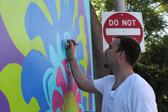 Tony Passero CrossCuts Mural on Addison Avenue Chicago Day 6 Shawn Cassera