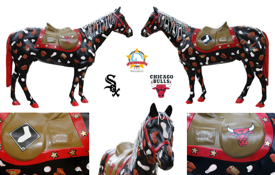 Tony Passero Horses of Honor Chicago Bulls and Chicago White Sox Horse Detail