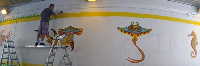 Coloribbean Mural Day 3
