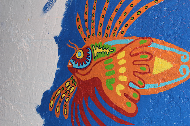 Tony Passero Coloribbean Mural in Rogers Park Chicago Day 5 Lionfish Detail