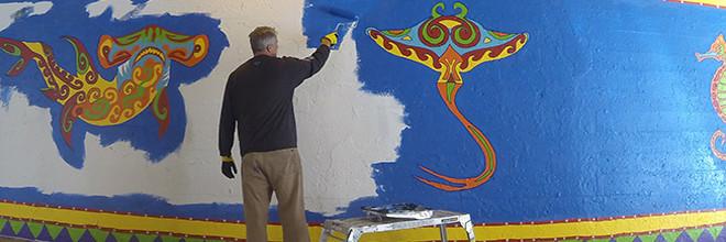 Coloribbean Mural Day 6