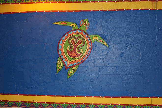 Tony Passero Coloribbean Mural in Rogers Park Chicago Day 6 Turtle Detail