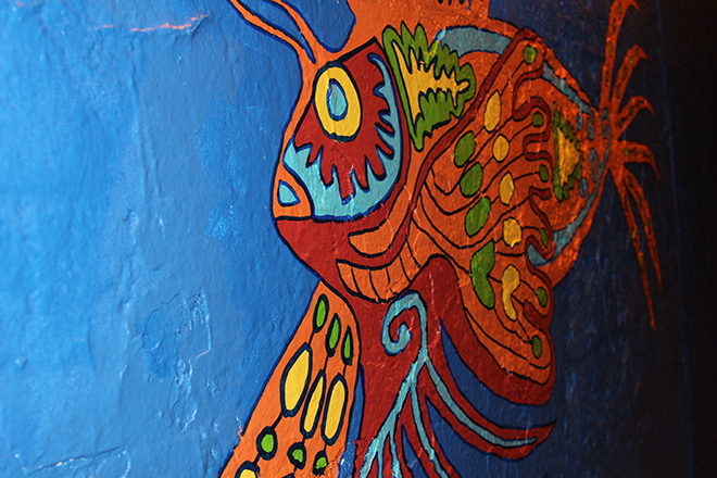 Tony Passero Coloribbean Mural in Rogers Park Chicago Day 7 Lionfish Closeup