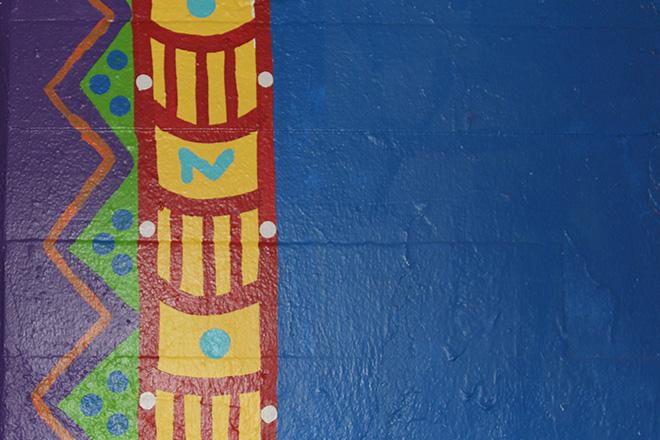 Tony Passero Coloribbean Mural in Rogers Park Chicago Day 7 Border Closeup