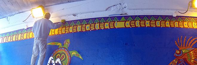 Coloribbean Mural Day 7