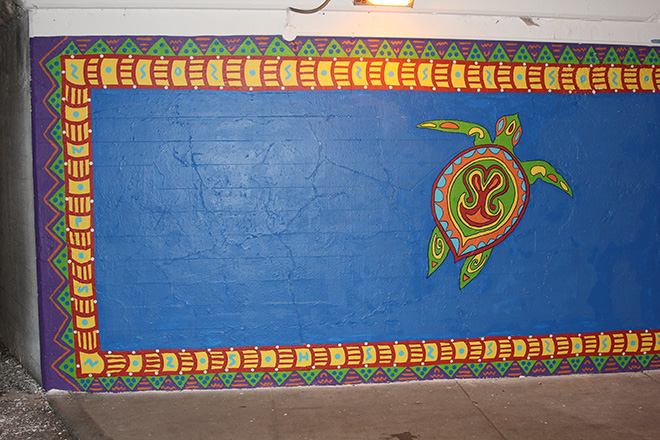 Tony Passero Coloribbean Mural in Rogers Park Chicago Day 7 Turtle Detail