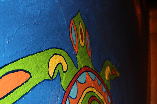 Tony Passero Coloribbean Mural in Rogers Park Chicago Day 7 Turtle Closeup