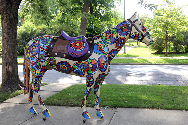 Tony Passero Horses of Honor Stained Glass Horse Right Side View