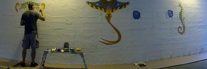 Coloribbean Mural Day 1