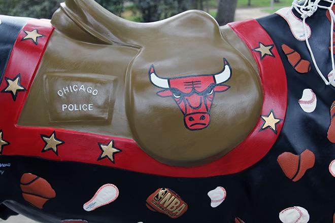 Tony Passero Horses of Honor Chicago Bulls Chicago White Sox Chicago Bulls Logo Detail