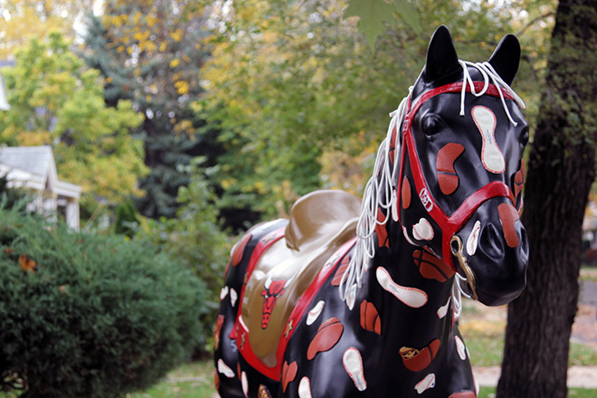 Tony Passero Horses of Honor Chicago Bulls Chicago White Sox Profile shot of patches horse