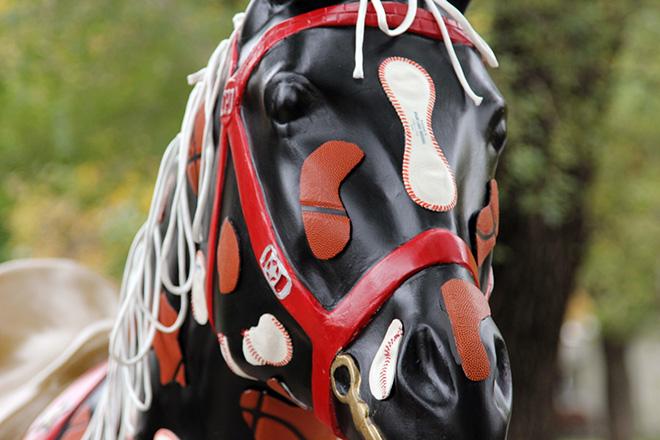 Tony Passero Horses of Honor Chicago Bulls Chicago White Sox Patch Horse Head Detail