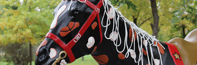 Horses of Honor Chicago Bulls and Chicago White Sox Patch Horse