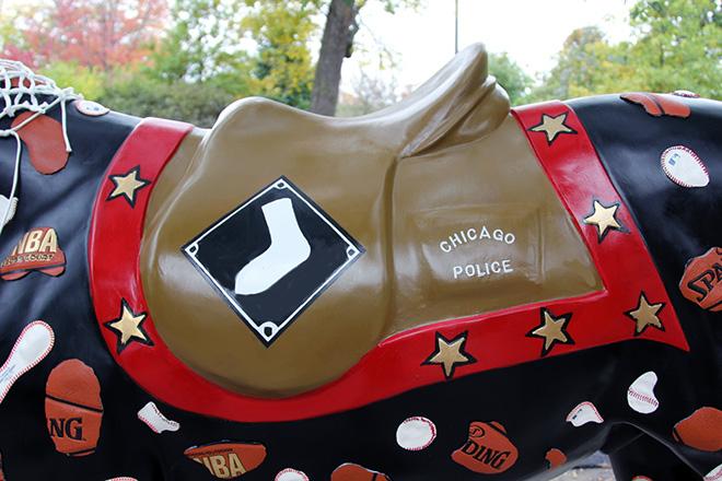 Tony Passero Horses of Honor Chicago Bulls Chicago White Sox Chicago White Sox Logo Detail