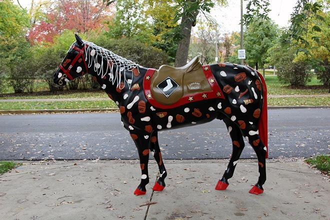 Tony Passero Horses of Honor Chicago Bulls Chicago White Sox Patch Horse Chicago White Sox Side