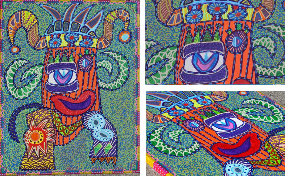 Tony Passero Painting Gesture Jester Detail