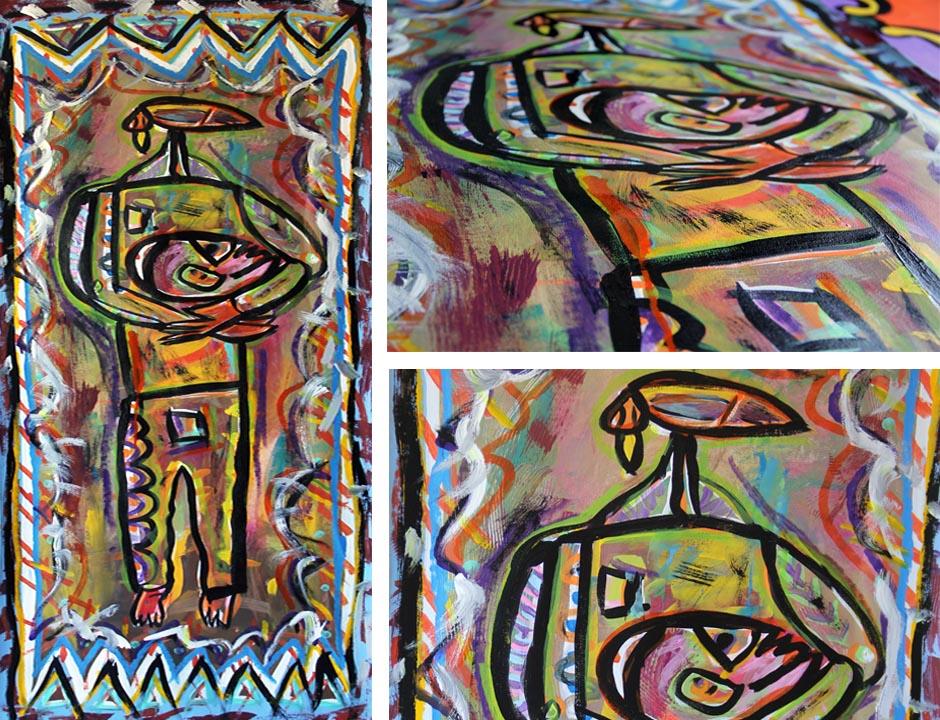 Tony Passero Painting Mind Takes Flight Detail