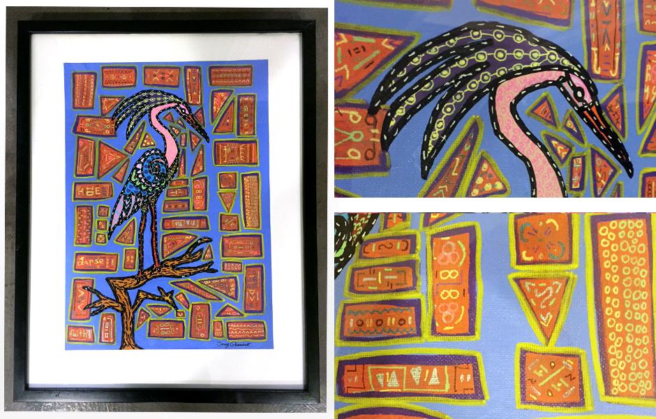 Tony Passero Painting Perch Bird Detail
