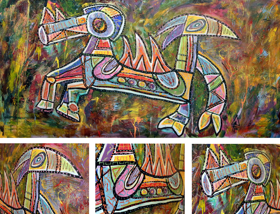 Tony Passero Painting Duality Series Biformity Detail