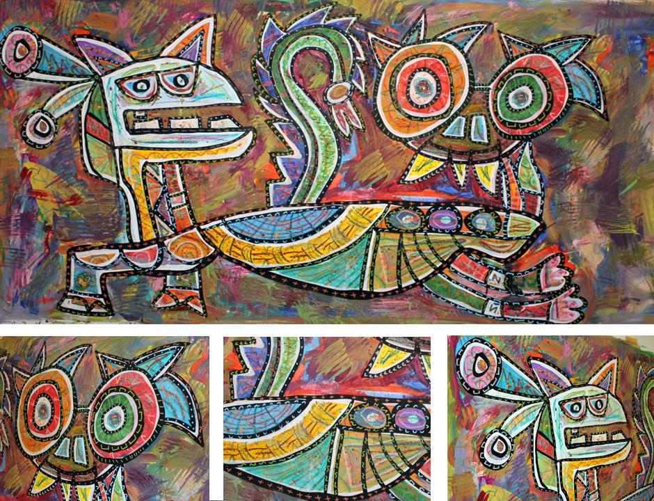 Tony Passero Painting Duality Series Duplexity Detail