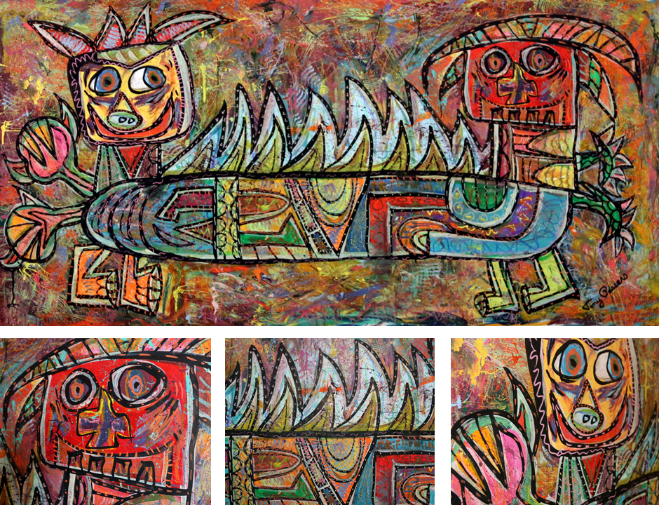 Tony Passero Painting Duality Series Polarity Detail