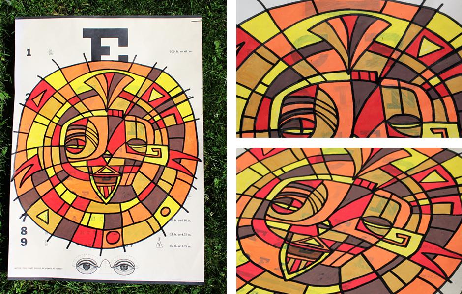 Tony Passero Painting Mask Shield Eye Chart Poster Detail