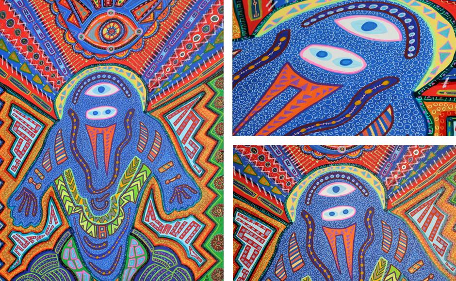 Tony Passero Painting AstroNot Detail