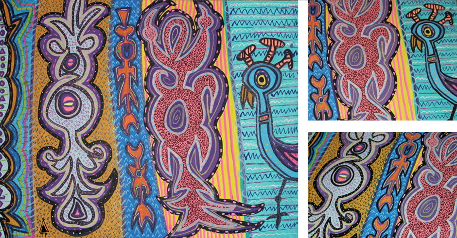 Tony Passero Painting Duck Duck Goose Detail